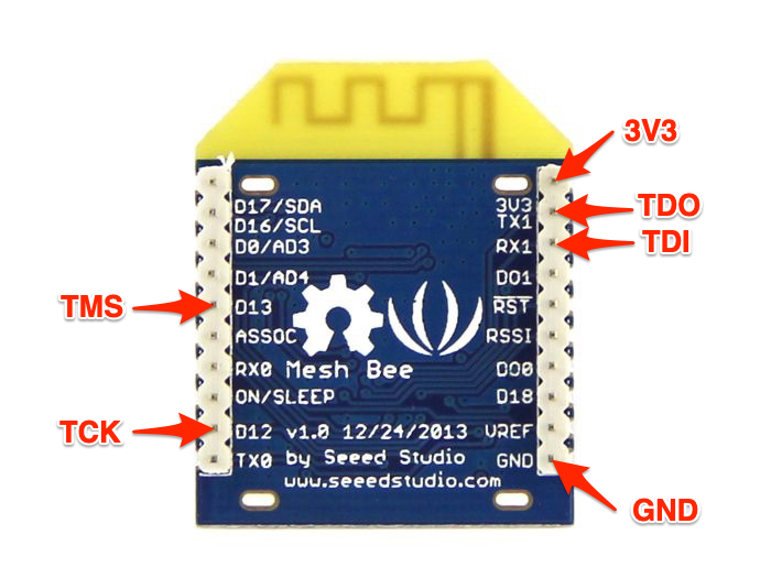 MeshBee: JTAG Pinout